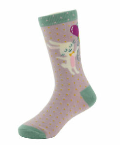 Girls Bunny and Balloon Socks in Lavender from Powder