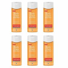 Neutrogena Body Clear Acne Body Wash with Salicylic Acid 2% 8.5 oz (Pack of 6)