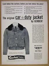 1963 Gerber Uniforms Car Duty Jacket police sheriff cop vintage print Ad