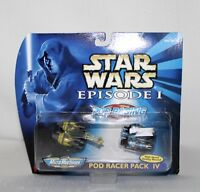 1998 STAR WARS The Phantom Menace Episode 1 POD RACER PACK IV MicroMachines IOB