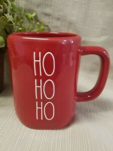 """New"" Rae Dunn by Magenta Christmas ""HO HO HO"" Red Mug/Cup (HTF)"