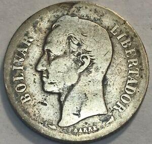 VENEZUELA - 2 Bolivares Gram 10 - 1900 - Y#23 - Silver Coin