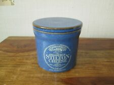 VINTAGE DENBY TUXFORD & TEBBUTT BLUE STILTON CHEESE STORAGE JAR KITCHENALIA