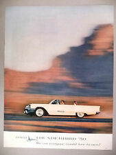 Thunderbird Convertible PRINT AD - 1959 ~~ Ford
