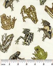 Fat Quarter Amazon Frogs Cotton Quilting Fabric - Benartex