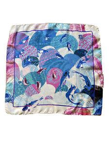 Discounted ETRO Milano Paisley Pocket Square (Handkerchief)100% Italian Silk