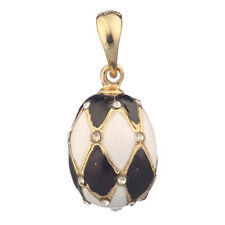 Faberge Egg Pendant / Charm with crystals 2.2 cm #2201-01