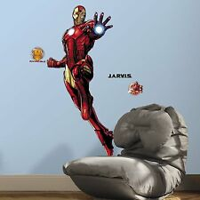IRON MAN Glow in the Dark GiAnT Wall Decals Marvel Heroes Room Decor Stickers