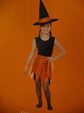 Girl Orange Witch Holloween Costume Size.(5-6).New.