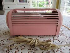 Mid Century Pink Metal Dial Light Adjustable Bedroom~Bed Retro Atomic Age Works!