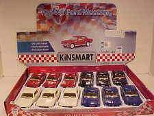 12 Pack 1964 Ford Mustang Hard Top Coupe Die-cast Car 1:36 Kinsmart 5 inch