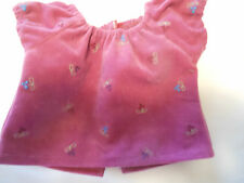 American Girl Doll Clothes - Fancy embroidered velvet top