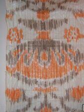 """Brunschwig & Fils """"""""Pierre Frey"""" vintage novelty remnant, color orange and brown"""