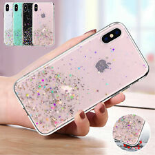 Bling Glitter Clear Gel Soft Phone Case Cover iPhone 11 Pro Max 6s 7 Plus 8 Xr X