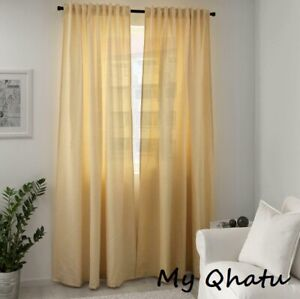 "Ikea TIBAST Curtains Yellow 2 Panels (1 pair) 57x98"" NEW 303.967.35"