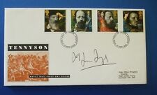 1992 Alfred TENNYSON Lord primo giorno copertura firmato da MELVYN Bragg