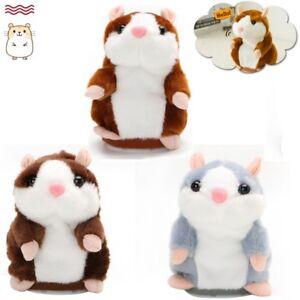 Funny Talking Hamster Mouse Pet Speak Sound Record Repeat Pet Plush Toy Gift UK