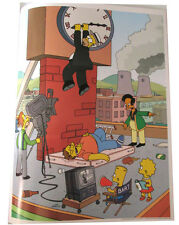 "SIMPSONS TV SHOW MINI POSTER 2007 14""X10 1/2"" HOMER HAROLD LLOYD CLOCK STYLE"