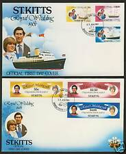 St Kitts 75-80 on FDC's Royal Wedding Charles & Diana