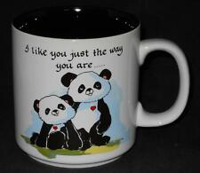 Valentine ~ I like You Just The Way You Are ~ Panda Cup Mug ~ Heart Katie Fisher