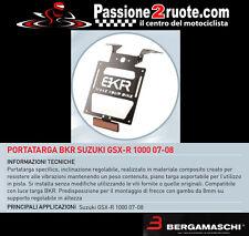 Portatarga Bkr suzuki gsxr 1000 2007 - 2008 porta targa license plate regolabile
