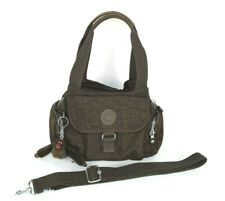 Kipling Fairfax Felix Brown Satchel Shoulder Crossbody Handbag Purse