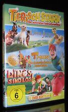 DVD TIERISCH STARK - 3 FILME - THOR + DIE DINOS SIND LOS + LÖWE VON JUDAH * NEU