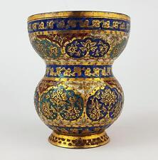 Superbe Cachemire émail doré cuivre Tasse c1880