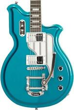 Eastwood Airline Map Deluxe With Bigsby Electric Guitar - Metallic Blue