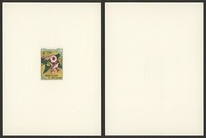 Upper Volta - Imperforate Miniature Sheet Proof Essay Mint Stamp Flowers S14