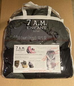 7Am Enfant Stroller, Carseat Footmuff-Blanket 212 Evolution New Black/Grey