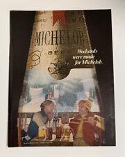 1978 Michelob Beer Vintage Print Ad Original Ski Skiing Skier Weekends Were Made