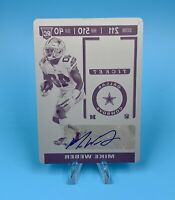 Mike Weber 2019 Panini Contenders Optic Auto 1/1 Rookie Ticket Printing Plate🔥