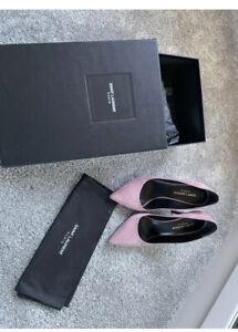 Ysl Saint Laurent Suede Dusty Pink Shoes Uk5 Eu38 5.5
