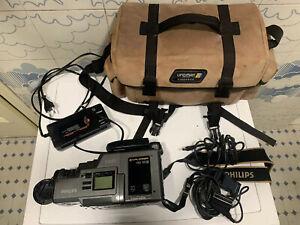 camera philips vkr 6865 Cam Camrecorder Videocamera Vintage No Batteria