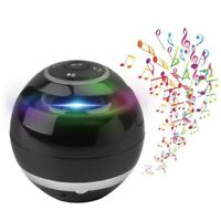 Wireless Speaker Bluetooth Subwoofer Mini Round HiFi Portable Music Audio Player