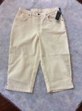 Rivited by Lee Cropped Capri Natural Cargo Jeans sz 8 M NWT