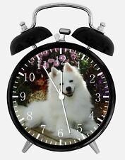 "American Eskimo Dog Alarm Desk Clock 3.75"" Home Office Decor F12 Nice For Gift"