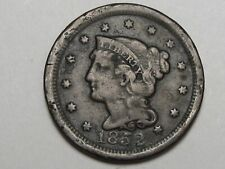 1852 Us Braided Hair Large Cent Coin. #57