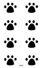 Body art  , décalcomanie  : Tatouage temporaire modèle 8 pattes d'animaux noires