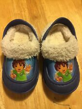 Go Diego Go Clogs Like Crocs Fur Lined Size 5/6 5 6 Boys Toddler Shoes