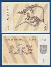 LITAUEN / LITHUANIA 1 Talonas 1991 UNC  P. 32 a