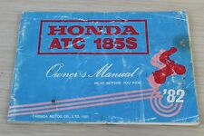 Honda ATC 185S Owner's Manual 1981 Original
