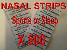 500  NASAL STRIPS ANTI SNORE, BREATH EASY FOR SPORTS , COLDS 100% DRUG FREE