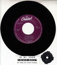 "THE BEACH BOYS  In My Room 7"" 45 rpm vinyl record + juke box title strip NEW"