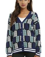 BBC Doctor Who Tardis Print Cardigan Cosplay Size Small Dr