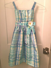 Dollie & Me Girls Easter Dress Size 6X Sundress Plaid Wedding Party Church