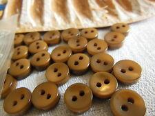 lot 15 MINI boutons marron Lumineux épais  diamètre  0,8 cm Ref 2028