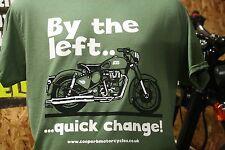 Classic Bike T Shirt Featuring Royal Enfield 500 Classic Design