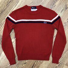 vintage IZOD LACOSTE jg Crewneck Pullover Knit Striped Sweater Boys 14